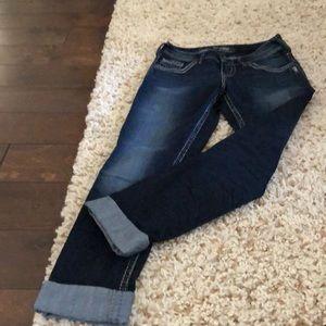 Silver Suki Skinny Jeans. Size 25x31